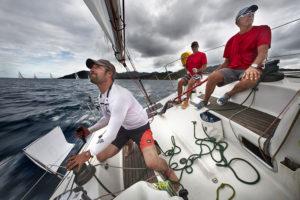 Les régatiers au beau milieu du Pacifique