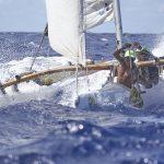 Les pirogues à voiles à la Tahiti Pearl Regatta 2017