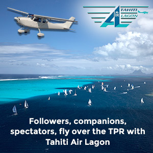 Followers, companions, spectators, fly over the TPR with Tahiti Air Lagon